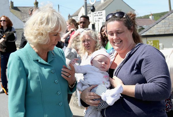 Camilla, Duchess of Cornwall meets members of the public during a visit to the Welsh Village on July 5, 2016 in Aberdaron, England. The Prince Charles, Prince of Wales and Camilla, Duchess of Cornwall are on the second day of their annual visit to Wales. - Prince Of Wales & Duchess Of Cornwall's Annual Summer Visit To Wales