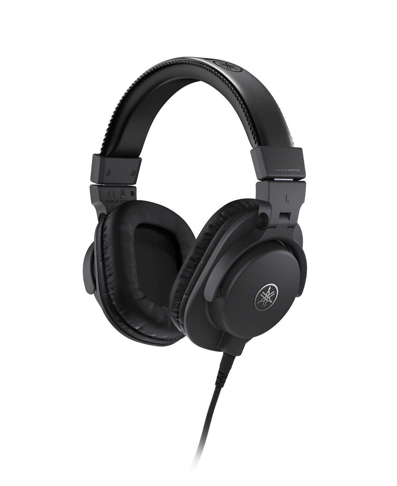 Yamaha HPHMT5 Studio Monitor OverEar Headphones Black