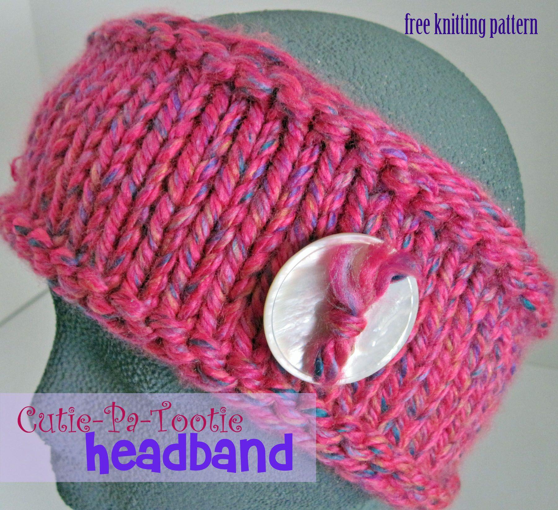 Cutie Patootie Headband: free knitting pattern from Craftown ...