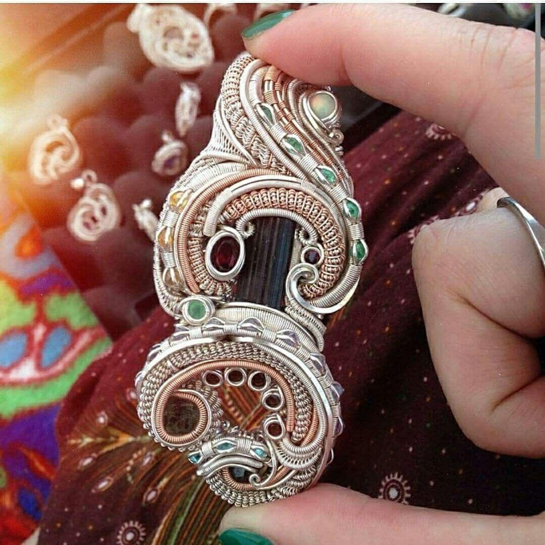 Heady wire wrapped pendant by Noetic effect wwwnoeticeffectcom