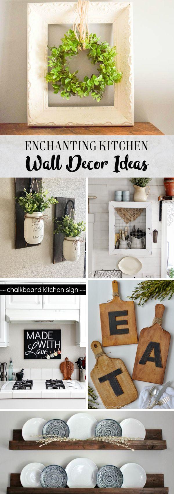 enchanting farmhouse kitchen design   30 Enchanting Kitchen Wall Decor Ideas That are Oozing ...