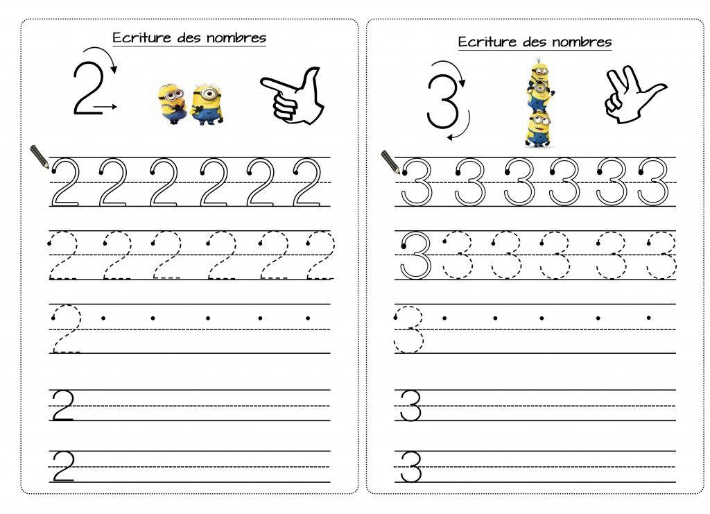 Assez ECRITURE DES NOMBRE 2 ET 3 | numération | Pinterest | Les nombres  NN69