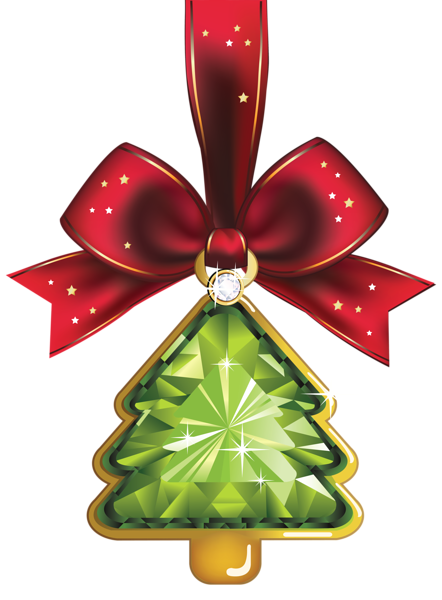 Christmas Crystal Tree Ornaments Clipart