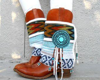 Desert Angel- Fringe Tribal Boot cuffs- LIMITED EDITION