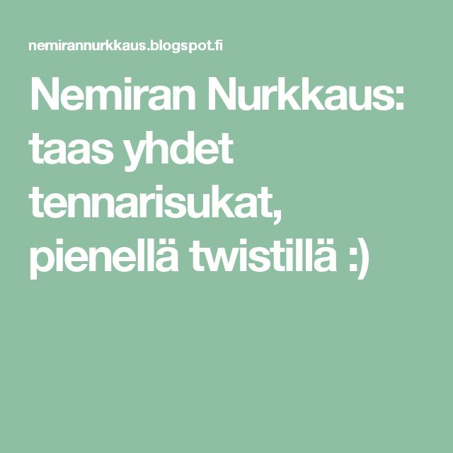 Nemiran Nurkkaus: taas yhdet tennarisukat, pienellä twistillä :)