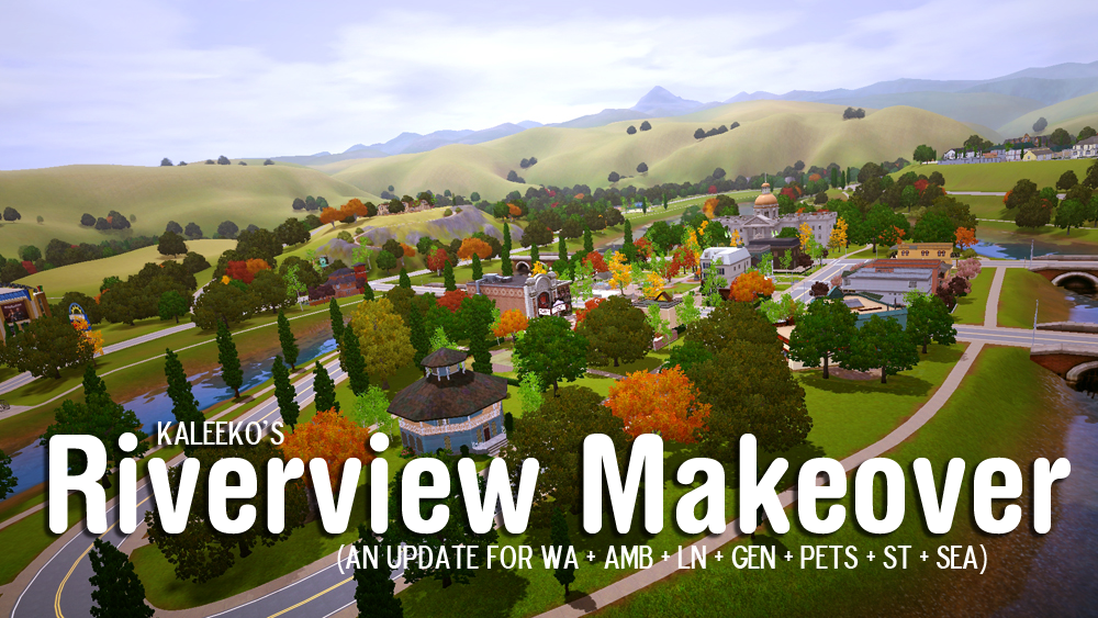 RIverview Makeover | The Sims | Sims 3 custom worlds, Sims 3