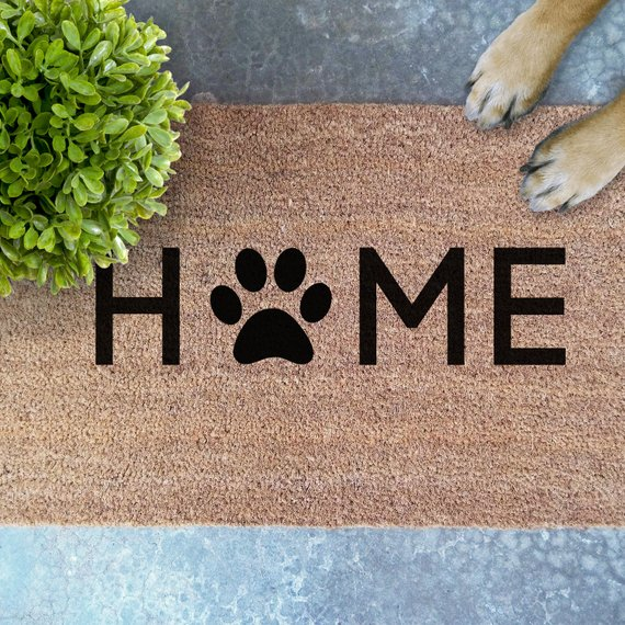 Home Pawprint Doormat Unique Gift For