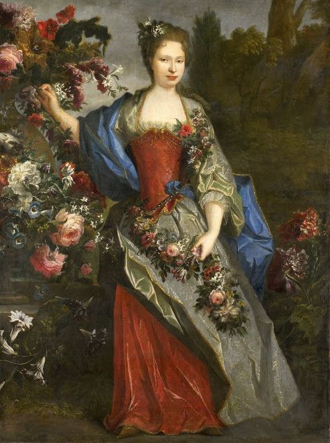 Marie-Louise Élisabeth d'Orléans as Flora by Largilliere, c . 1712