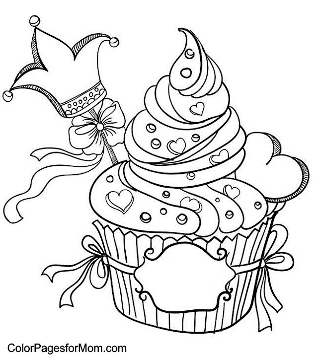 Hearts Coloring Page 8 Valentine Coloring Pages Cupcake