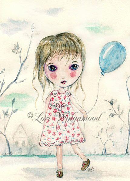 Doll No.4 - Watercolor - Digital - Instant Download