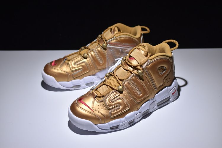 half off c5227 d6f5b Supreme x Nike Air More Uptempo Metallic Gold 902290 700