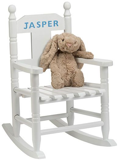 Christening Gifts For Girls : White Personalised Rocking Chair. Personalised  Childrens ...