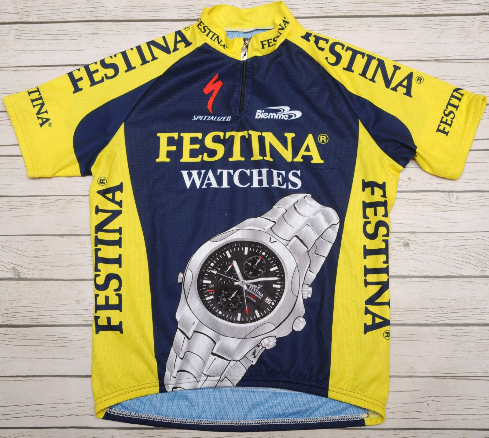 ca19d3074 FESTINA WATCHES SPECIALIZED - BIEMME - vintage short sleeve MEN S JERSEY -  L