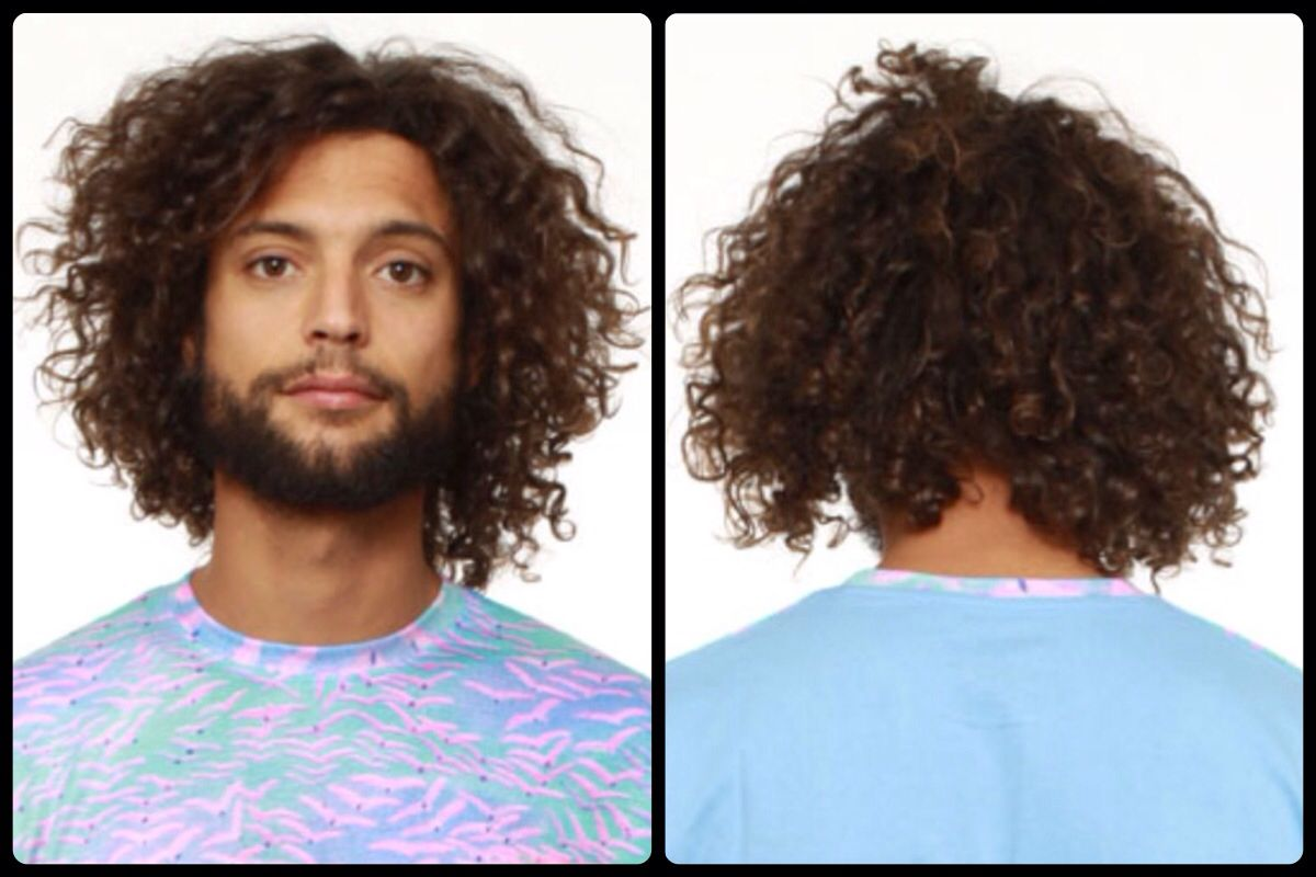 Mens Long Curly Hair Type 3b Curl With Images Curly Hair Men