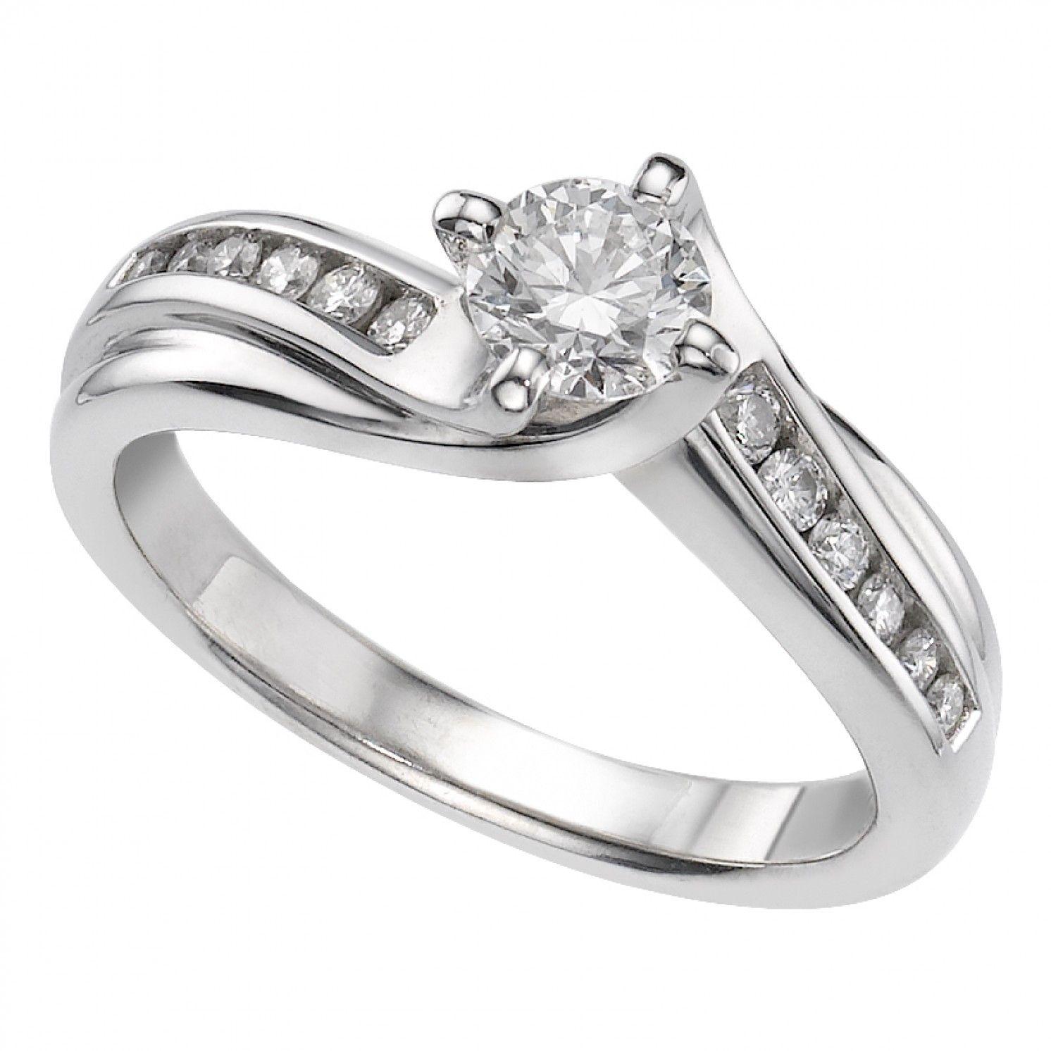 18ct white gold 0.63 carat diamond ring Diamond