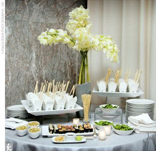 several food stations were set up throughout the space the asian rh pinterest com