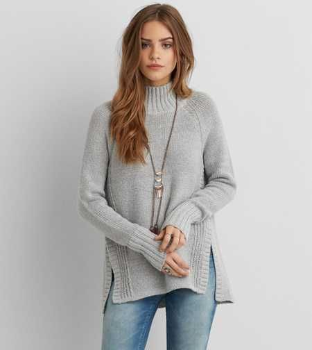 AEO Mixed Stitch Turtleneck Sweater - Buy One Get One 50% Off ...