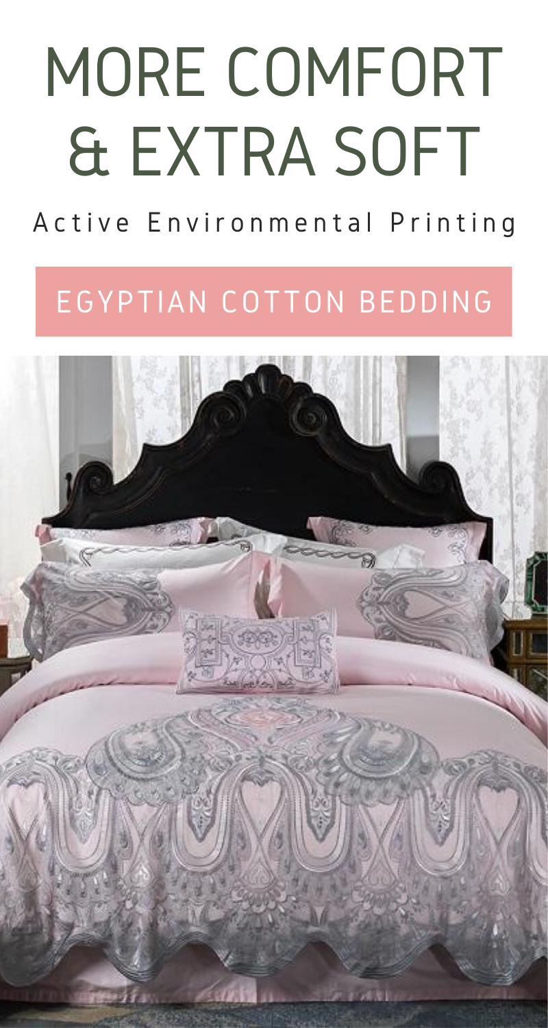 More Comfort And Extra Soft Egyptian Cotton Bedding Sets By Prominent Emporium Egyptian Cotton Bedding Cotton Bedding Sets Bedding Sets