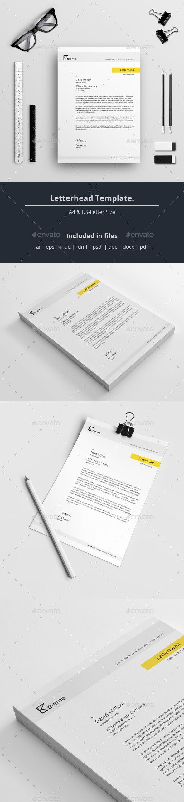 6e37f89f696 Letterhead Template A Sharp and Professional Letterhead template for  creative businesses