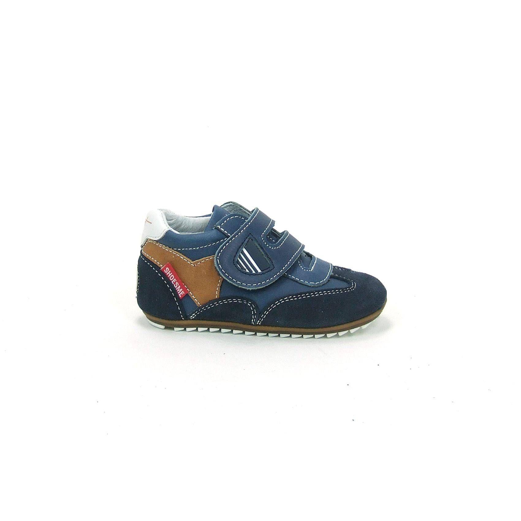 75e269e494f Schattige baby schoenen van Shoesme, model BP4W004-A! Uitgevoerd in  donkerblauw met bruin