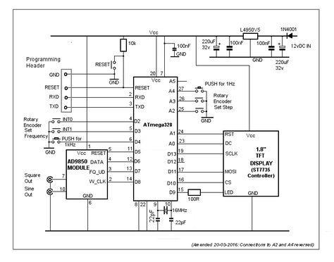 Arduino - AD9850 Waveform Generator | Atmel-AVR in 2019 | Arduino