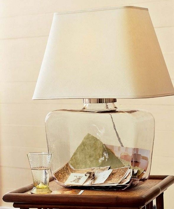 Artistic Atrium Glass Table Lamp From Pottery Barn...Fill ...