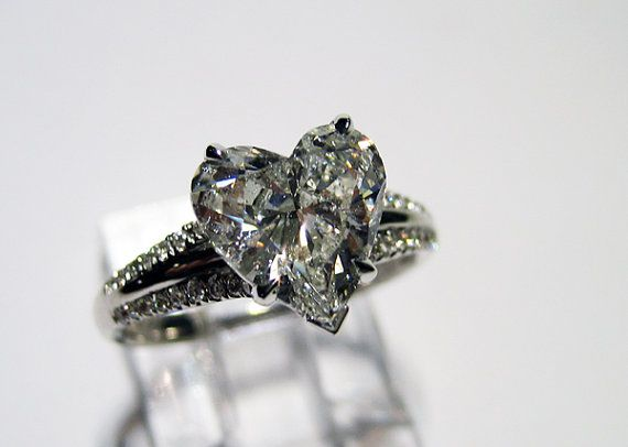 Pin By Lovely Laken On Even Though The Day Is Not Set Just Yet Antique Wedding Rings Heart Shaped Diamond Ring Heart Shaped Diamond