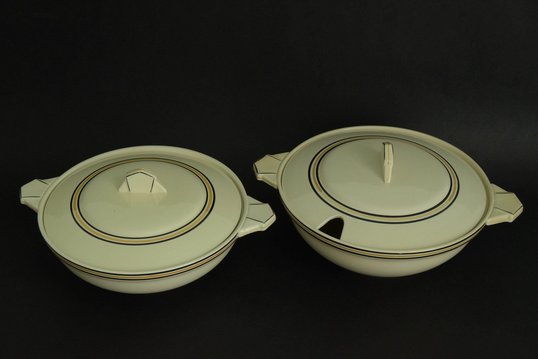 Art Deco Soupière et Plat Imperial Manufacture Royal