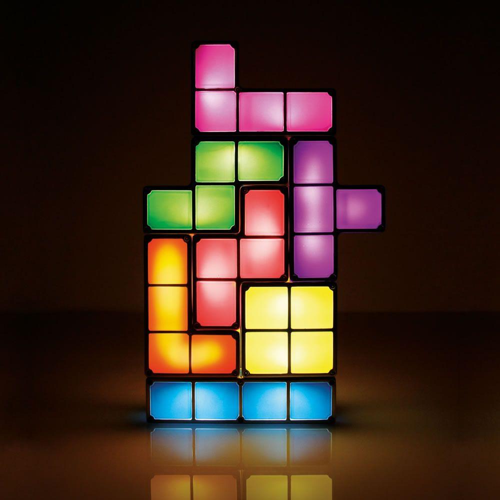 The Tetromino Light Sculpture Tetris Decorations Led Desk Lamp Lamp