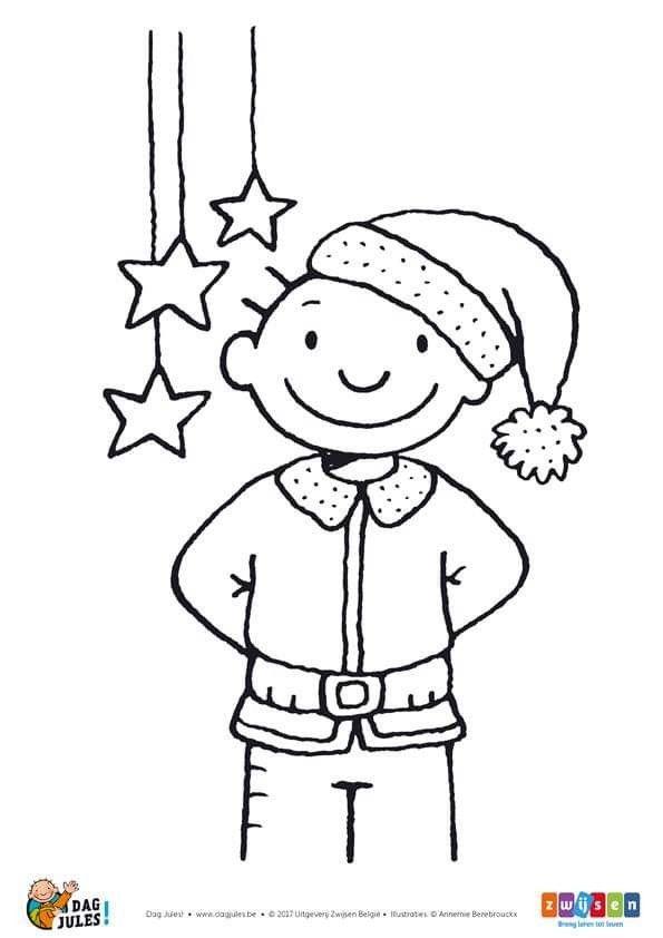 Kleurplaten Peuters Kerstmis.Jules Kerst Kerstmis Kerstmis Kleurplaten Kerstmis Knutselen