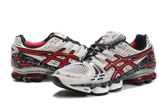 new arrivals ce238 97099 Men Asics Gel Kinsei 2 Shoes White Red Black