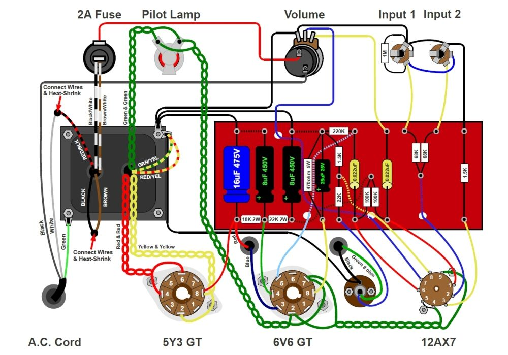 guitar amp wiring diagram guitar wiring diagrams guitar amp circuit diagram the wiring diagram