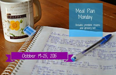 Darcie's Dishes: Meal Plan Monday: 10/19-10/25/15 // A seven day meal plan that covers all meals, snacks and drinks. It is 100% Trim Healthy Mama compliant. The meal plan is printable and contains a printable shopping list as well.