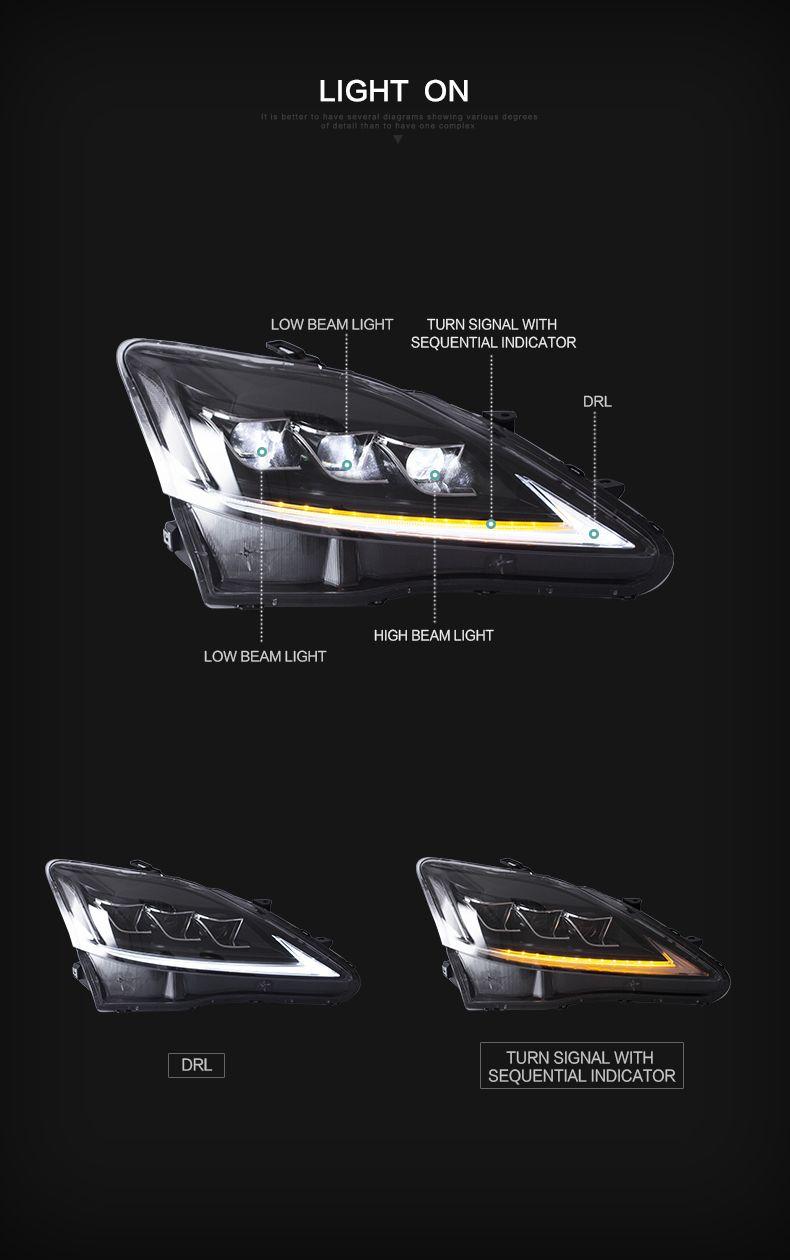 Lexus Is250 2006 2012 Full Led Head Light Vland Lexus Is250 Lexusis250 Fullled Headlights Headlamps Headlight Headlamp Lexus Is250 Lexus Lexus Sedan