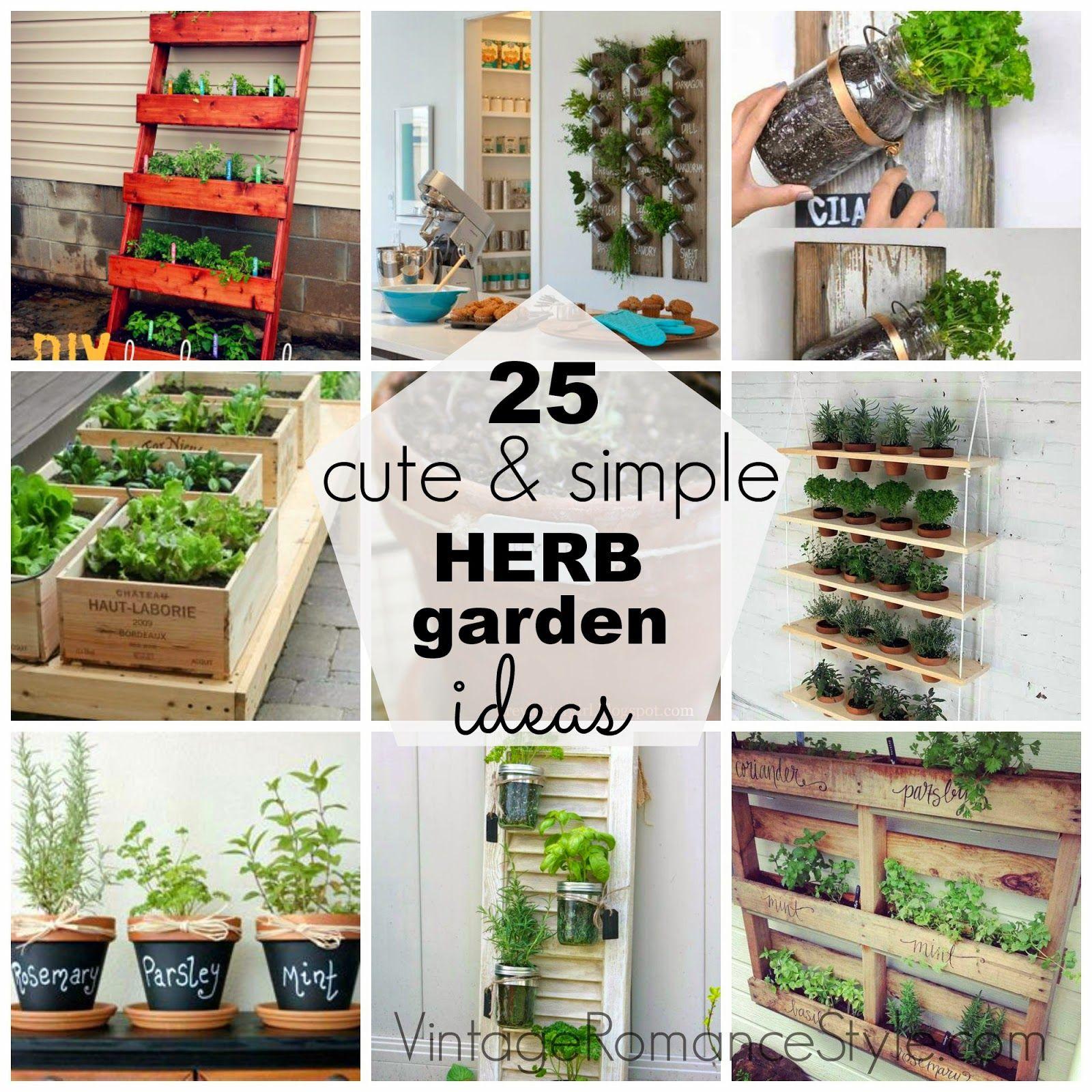 25 Cute Simple Herb Garden Ideas Outdoor Herb Garden Diy Herb Garden Herb Garden Design