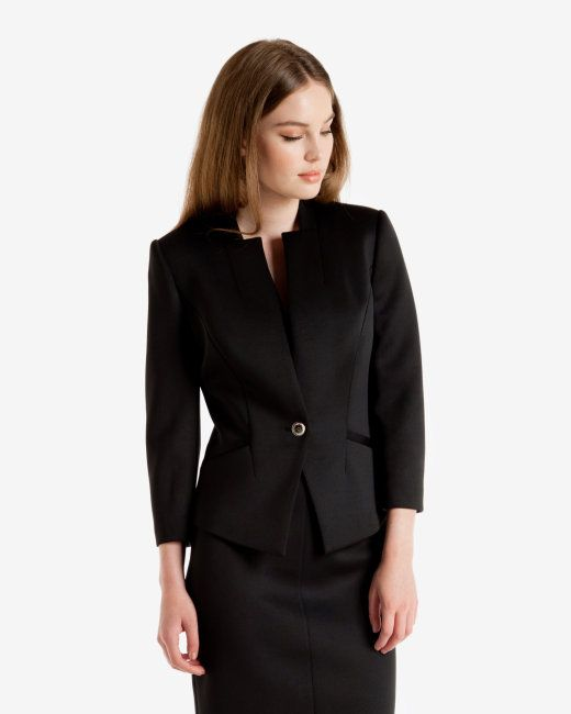Neoprene suit jacket - Black | Tailoring | Ted Baker UK | Wish ...
