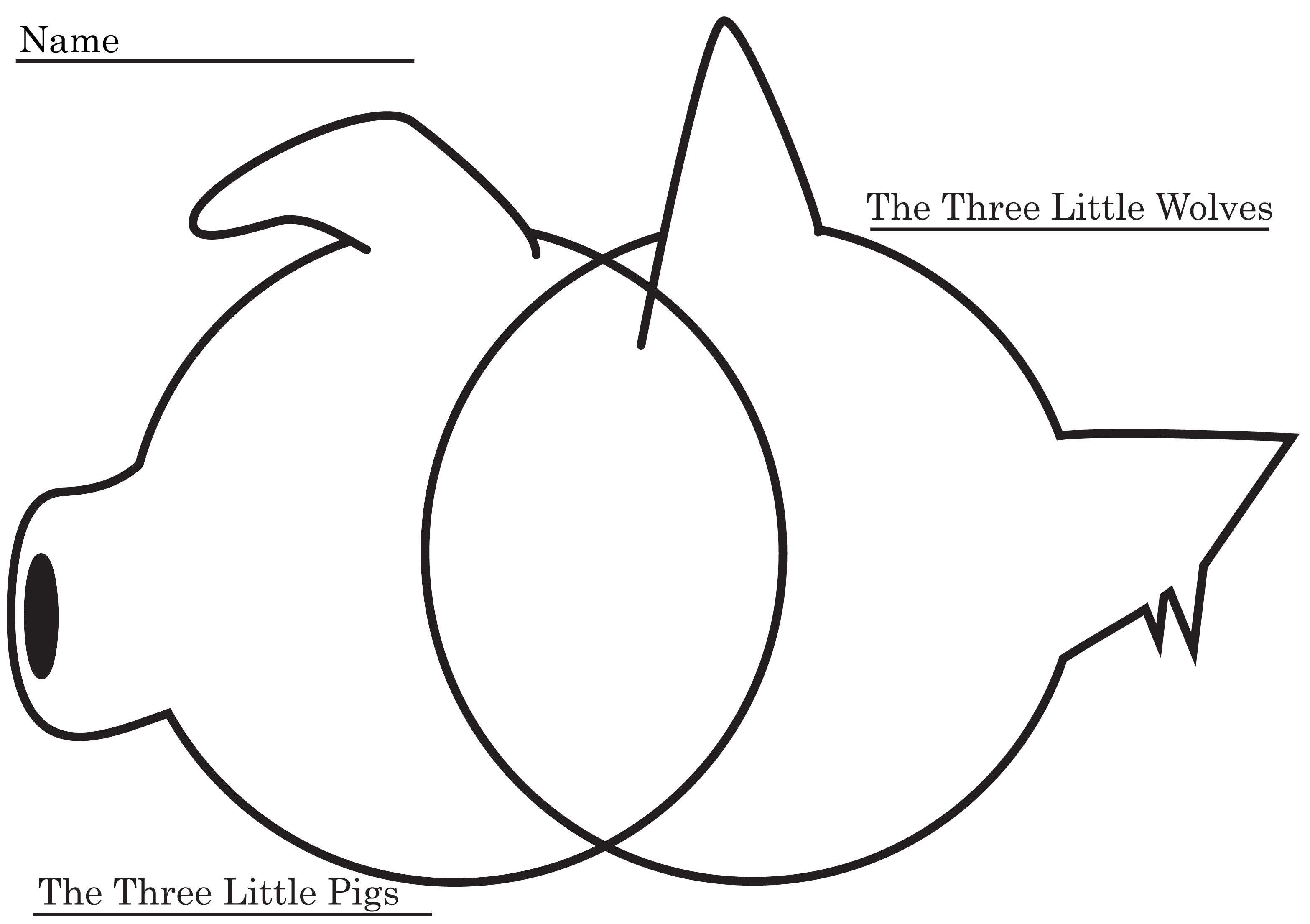 Venn Diagram For Three Little Pigs And Three Little Wolves