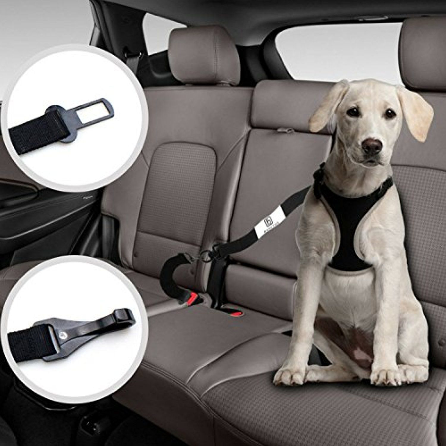 Dog Seat Belt Harness With Two Pet Cat Safety Belt Heavy Duty
