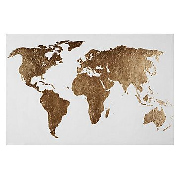 World of gold canvas art by type art z gallerie bedroom world of gold map art from z gallerie sciox Gallery