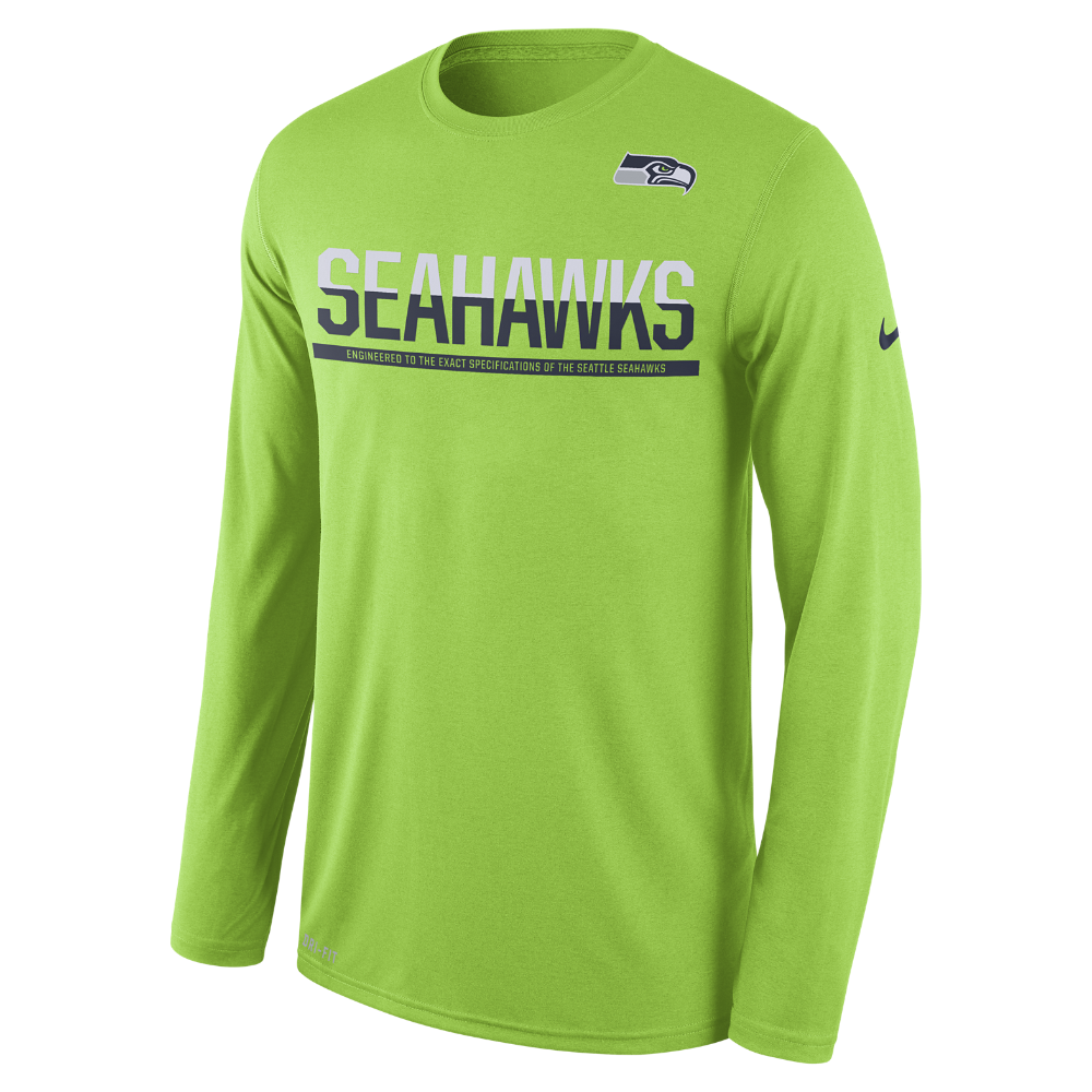33879f4ce Nike Team Practice (NFL Seahawks) Men s T-Shirt Size Medium (Green) -  Clearance Sale