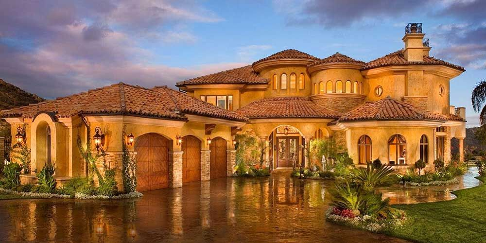 Tuscan Log Home Plans With Courtyards | Affordable Home Builders Houston  Constructs Luxurious Custom Homes .