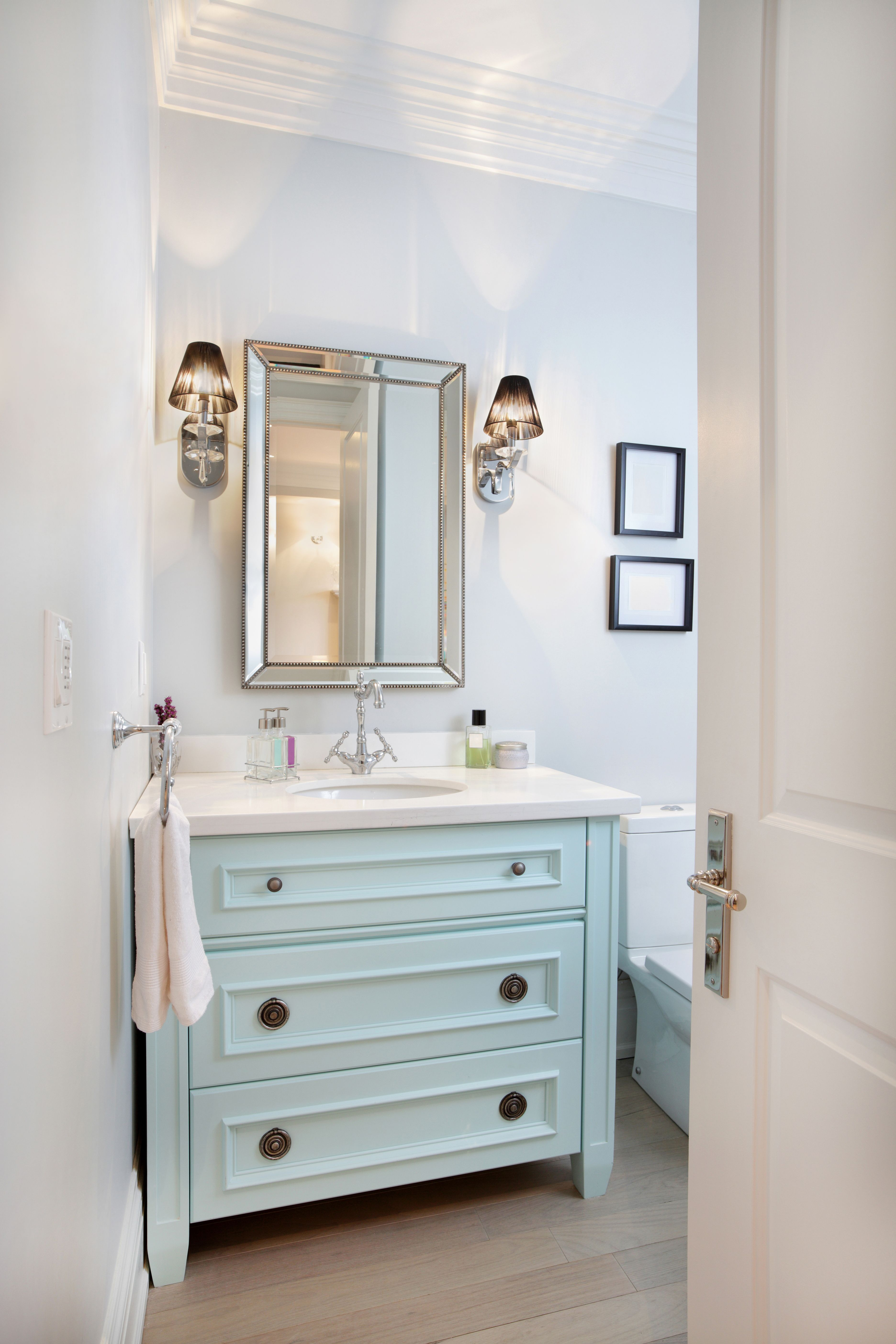 Kids\' Bathroom remodel with pops of light turquoise, yellow, and ...