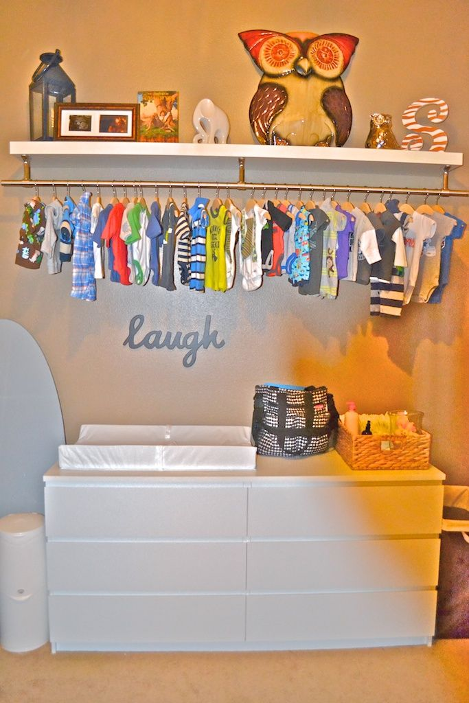 Sawyer 39 s nursery baby storage closet alternatives no - Room with no closet ...