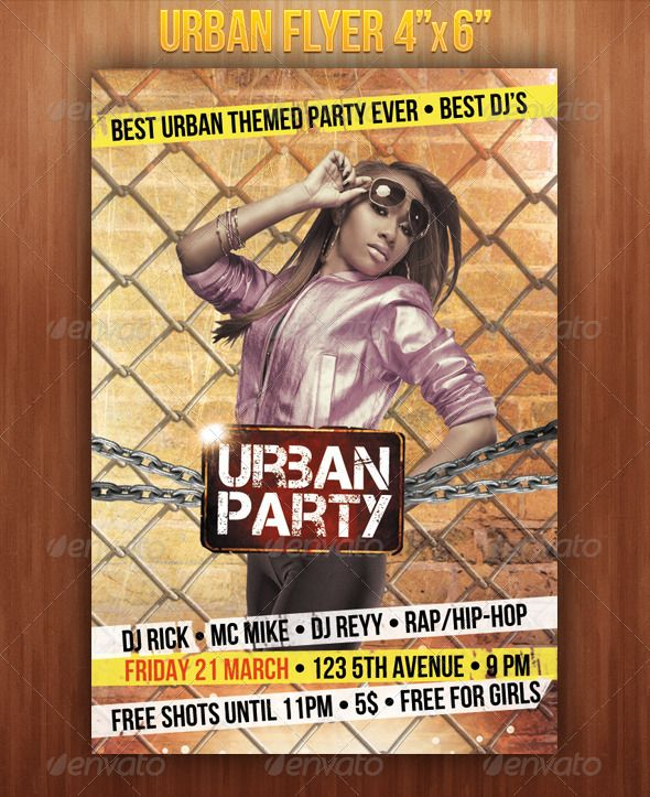 Urban Flyer  Urban Flyer Design Templates And Concert Flyer