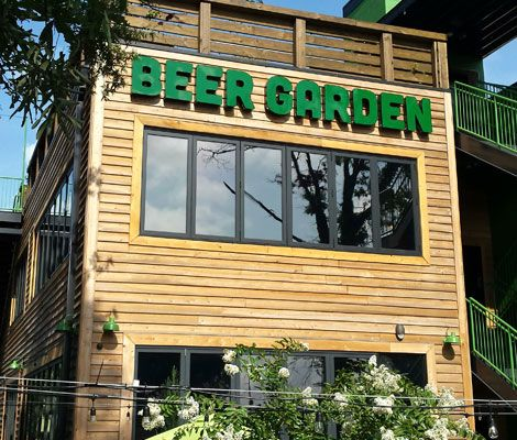 Raleigh, NC - The 500-square-foot Raleigh Beer Garden has opened  with a whopping 366 options on tap, including 144 North Carolina brews.