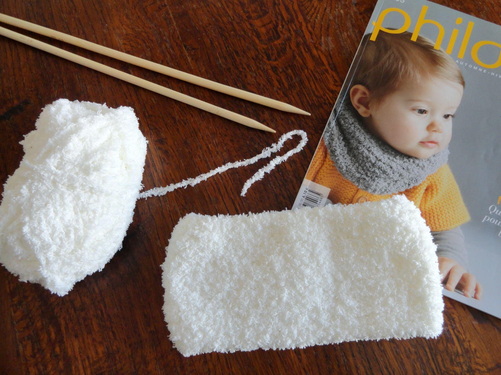 tricoter un snood tout doux