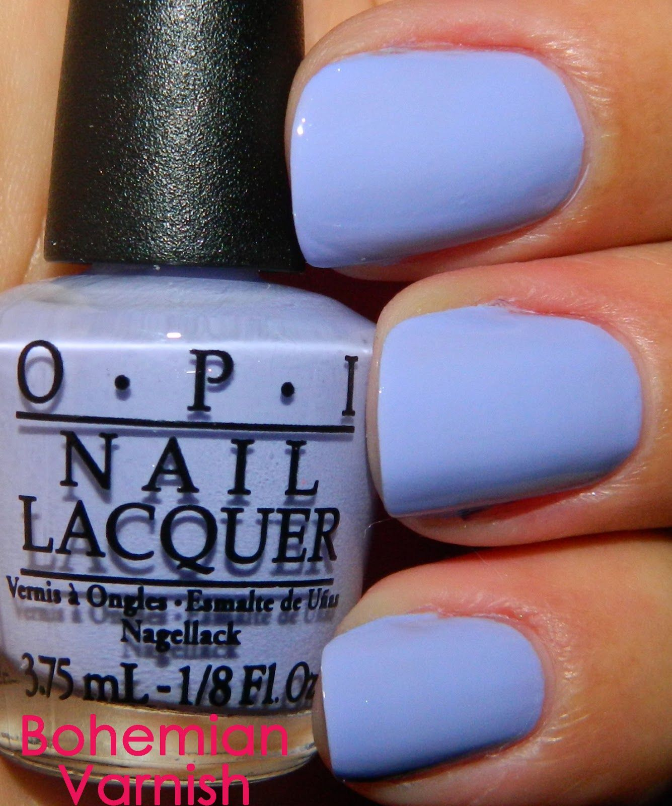 OPI - You\'re Such a BudaPest is a lilac-periwinkle shade with a ...