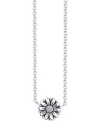 6ce027e9ddd Unwritten Sunflower Pendant Necklace in Sterling Silver - Necklaces -  Jewelry & Watches - Macy's