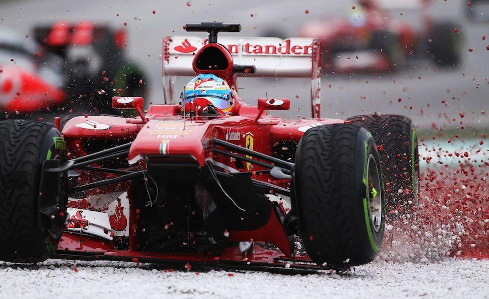 Fernando Alonso durante le prove del Gran Premio di Malesia sul circuito di Sepang a Kuala Lumpur, 24 marzo 2013. (Mark Thompson/Getty Images)