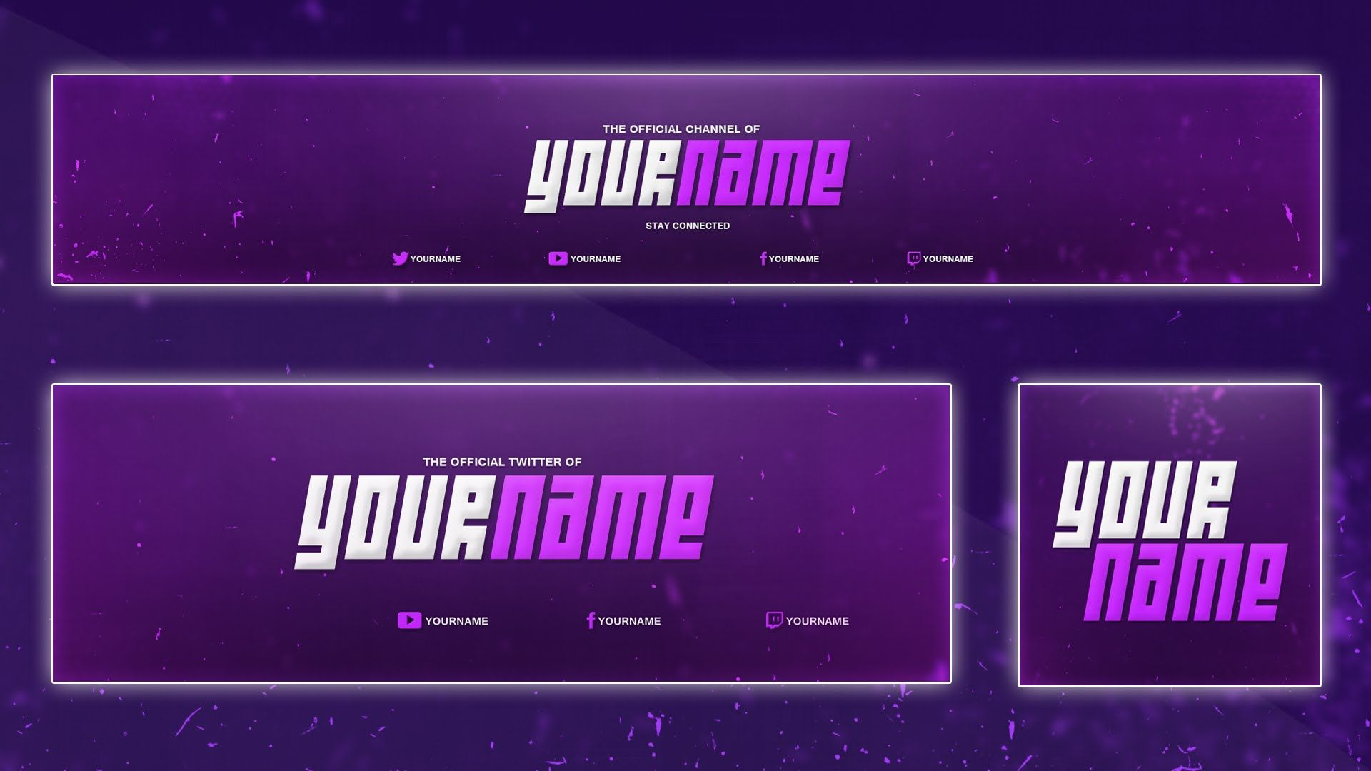 Cool YouTube Banner Template Banner, Twitter Header